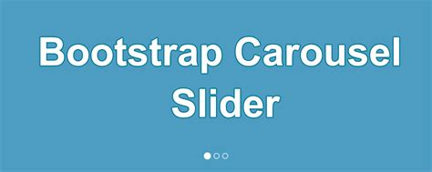 tutorial bootstrap carousel how to create carousel bootstrap slider