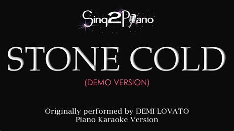 stone cold by demi lovato karaoke stone cold piano karaoke demo demi lovato youtube