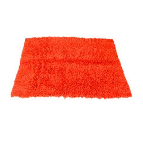 Flokati Wool Rug by Flokati Wool Shag Rug Orange Formdecor