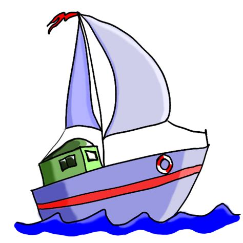 a boat cartoon cartoon sail boat clipart best