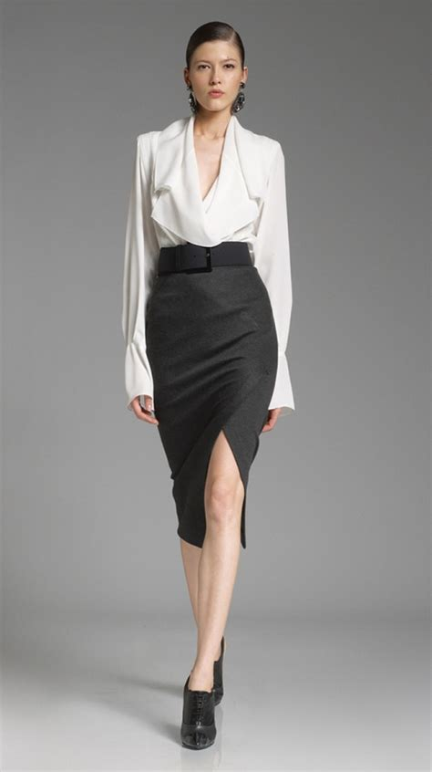 blouse to wear with pencil skirt black blouse