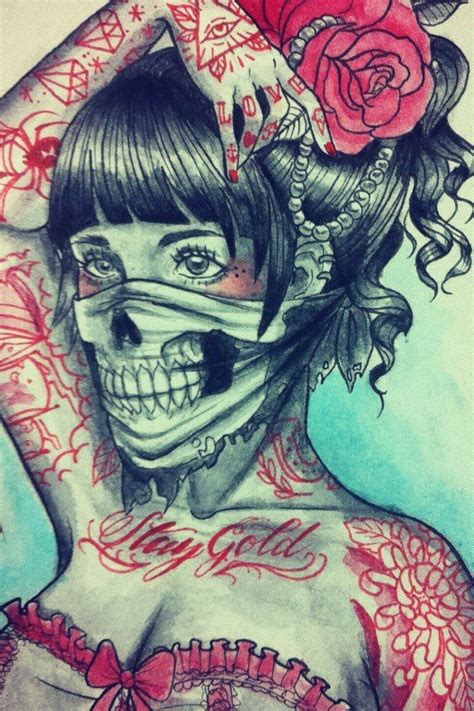 top 10 bandana design tattoos 20 best ink images on chicano chicano