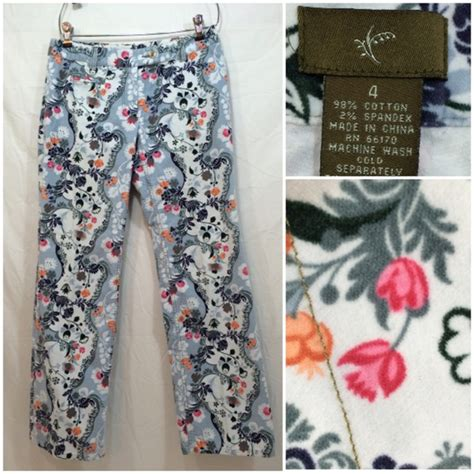 blue and white patterned jeans anthropologie blue and white floral print pants fei