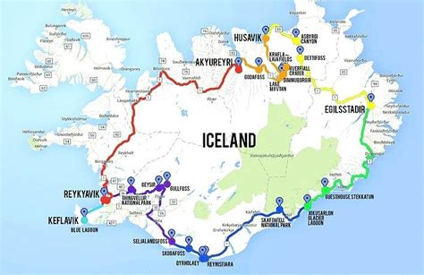 printable road map of iceland maps iceland driving map printable road of on golden