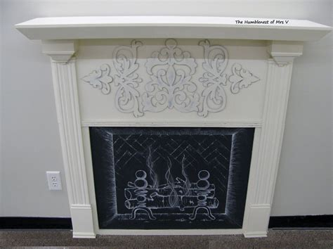 the humblenest of mrs v diy faux fireplace