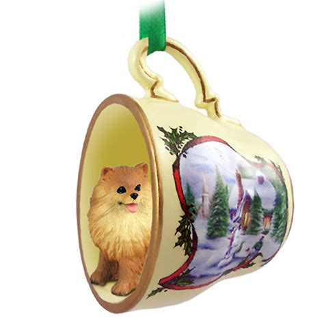 pomeranian ornament pomeranian ornament figurine teacup