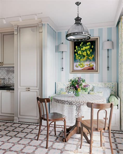 Three Room Apartment in Provence Style for a Family with 2