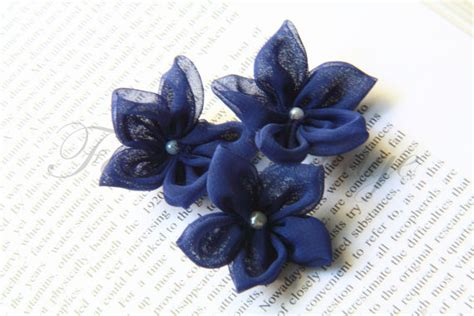 Handmade Fabric Flower - chiffon fabric flower handmade 5 pcs on luulla