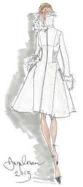 jasper conran designer coat sketch in sketches