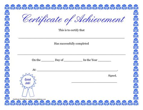 printable hard work certificates kids printable