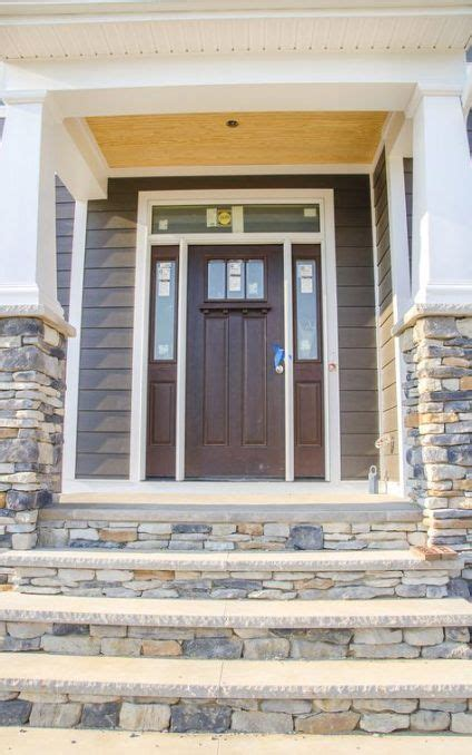 craftsman front door  sidelights  transom style