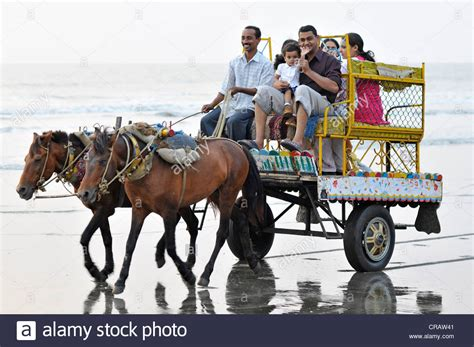 indian cart indian family on a cart on the at juhu juhu