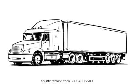 tractor trailer truck images stock  vectors shutterstock