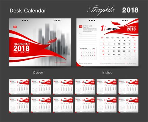 table calendar 2018 template free set desk calendar 2018 template design cover set of