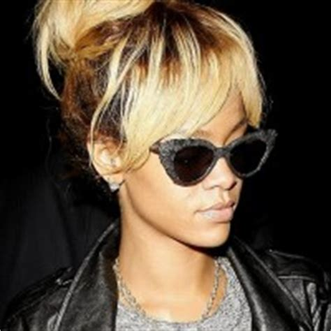 rihanna french twist updo hairstyle with wispy bangs rihanna updo hairstyle french twist updo for party