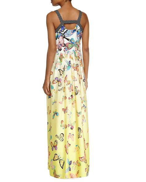 Buterfly Maxi lyst ranna gill sleeveless butterfly maxi dress in yellow