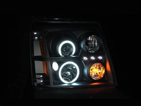 Lu Hid Projector cadillac escalade 2002 2006 hid projector headlights black