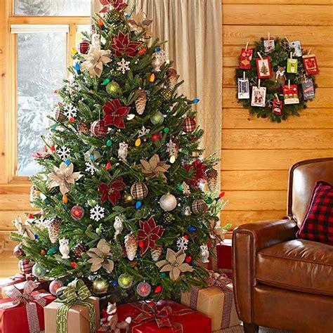 lodge look christmas decorating