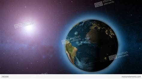 wallpaper of earth rotating rotating earth with sun in background stock animation 290308
