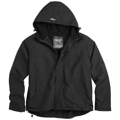 surplus windbreaker jacket with zipper black other 1st