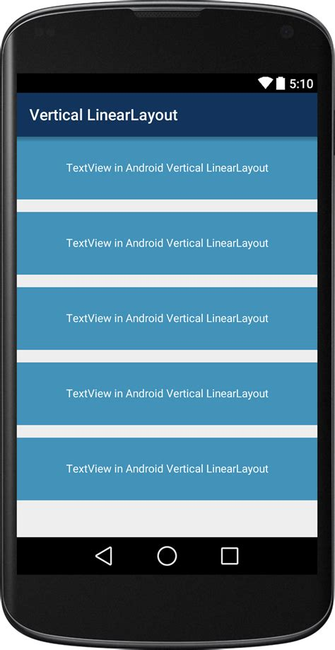 vertical layout xml android linear layout viral android tutorials