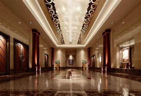 Country Homes And Interiors 3d model luxury hall lobby interior cgtrader