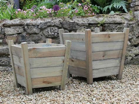 Large Wooden Planters For Trees by Kingham Wooden Garden Planters For Trees Flowers Vegetables