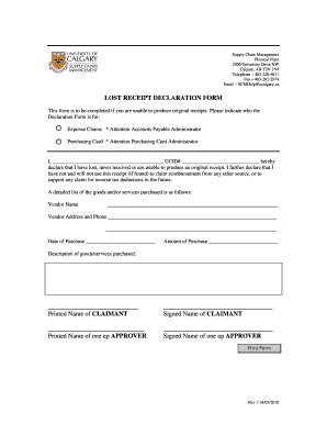 Lost Receipt Declaration Form Template by Power Of Attorney Form Alberta Child Support Data Sheet