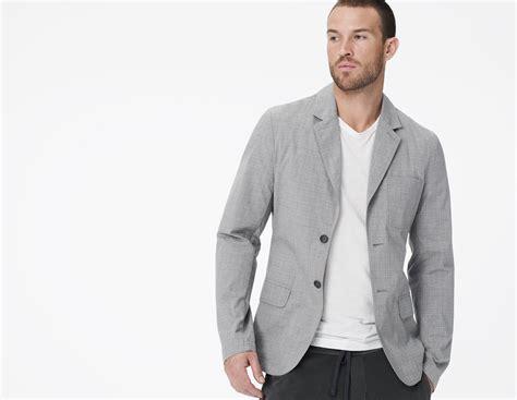 Blazer Casual Gray List lyst cotton casual blazer in gray for