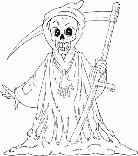 Grim Reaper Coloring Page Coloring Com Grim Reaper Coloring Pages