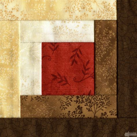 Log Cabin Quilt Square by Log Cabin Quilt Block Embroidery Design