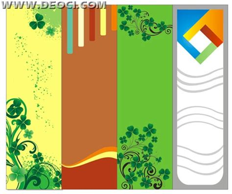 corel draw template 4 vector website x banner background design template