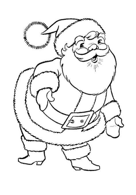 coloring pages father christmas download santa claus christmas coloring pages printable or