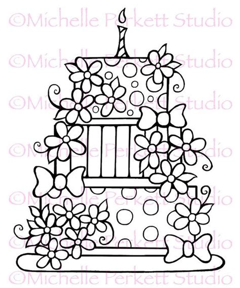 digital images for card digital st image birthday cake daisies flowers bows