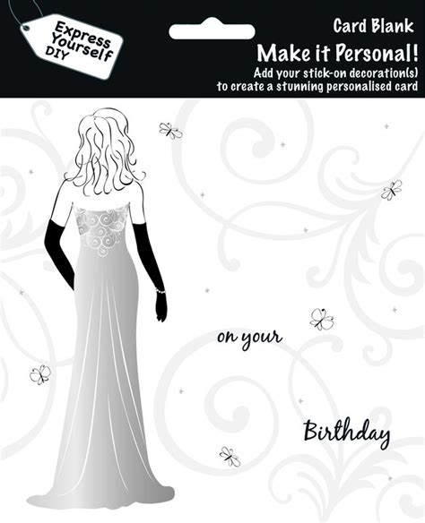 make personal cards make it personal blank card in dress on your
