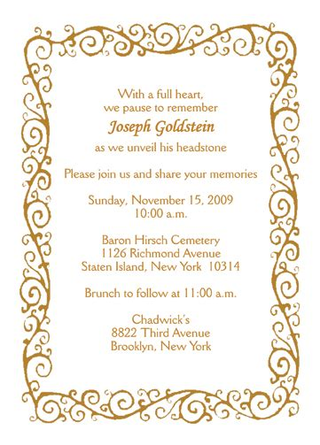 invitation cards templates unveiling tombstone unveiling announcement uc 15