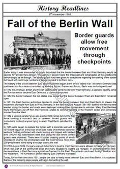 berlin wall newspaper image result for the fall of the berlin wall newspaper