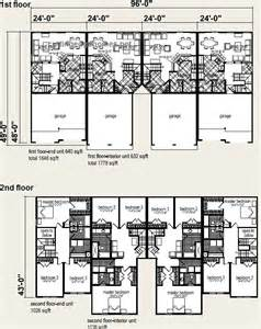 Three Plex Floor Plans by 4 Plex 3br 2 5ba 1 648 1 758 Sq Ft Each Cutting