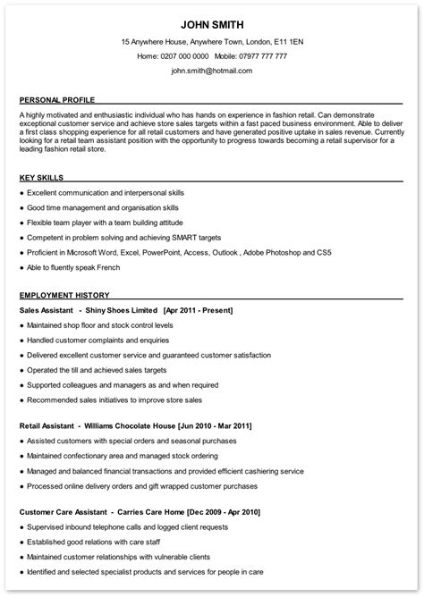Resume Writing Sles by Write Cv Resume 28 Images Sle Curriculum Vitae Resume