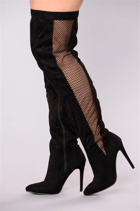 17 Most Fashionable The Knee Boots by Bourdoir The Knee Boots Black