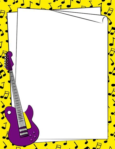 lined paper with music border 250 best clip art music printables images on pinterest