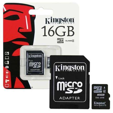 Memory Micro Sd Kingston 16gb Class 4 Sdc4 1 Kingston Micro Sd Sdhc Memory Card 16gb Class 4 7dayshop