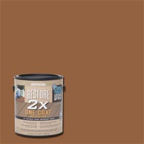 rust oleum restore 1 gal 2x cool touch timberline deck stain 286831 the home depot