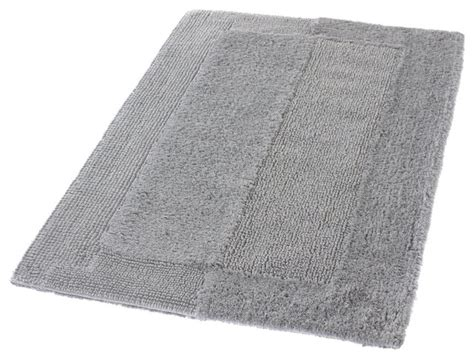 Silver Bathroom Rugs Silver Gray Thick Plush Reversible Cotton Bathroom Rug