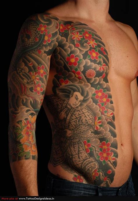 japanese body tattoo designs traditional japanese samurai warrior design