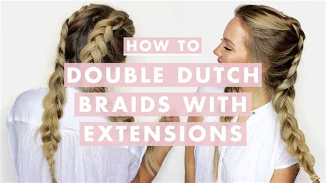double dutch braids  hair extensions youtube