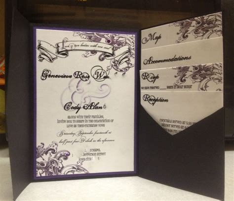 purple flourish invitations completely diy