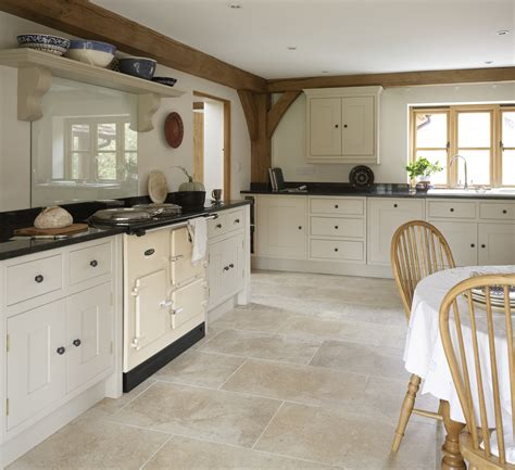 painted kitchen with limestone floor http www
