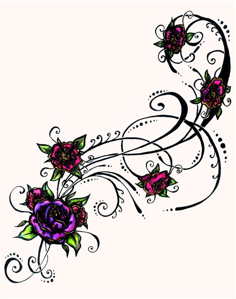 purple tattoo designs flower tattoos popular designs