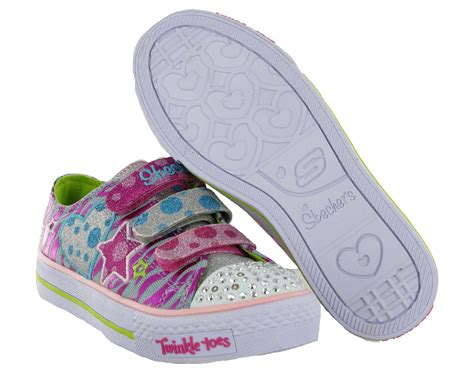 twinkle toes light up shoes new girls kids infants skechers twinkle toes light up